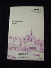 ROBSON LOWE BASLE AUCTION CATALOGUE 1977 EGYPT THE 'JOHN GILBERT'