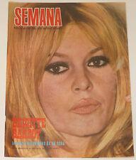BRIGITTE BARDOT At Home Semana 1967 cover & 4 page article Spain magazine