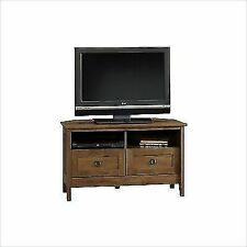 Sauder Oak Finish Corner TV Stand - Brown