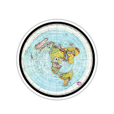 """The Earth Is Flat Decal Sticker 2.5"""""""