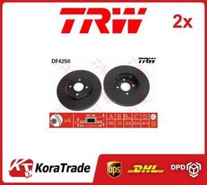 2x DF4250 TRW OE QUALITY BRAKE DISC SET