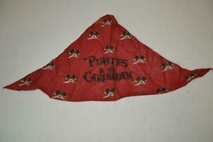 DISNEY PIRATES OF THE CARIBBEAN MICKEY MOUSE RED BANDANA ONE SIZE