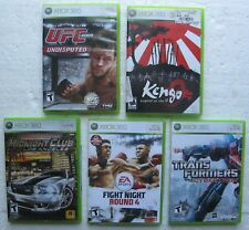 5 X-BOX 360 Live - UFC 2009,Kengo,Midnight Club LA,Fight Night 4,Transformers