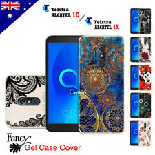 For Telstra Alcatel 1C | 1X Soft Gel TPU Flexible Fancy Colourful Case Cover