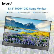 """Eyoyo 13.3"""" IPS 300cd/m² HDMI Monitor 178° Wide Angle 1920x1080 for PC Home XBOX"""