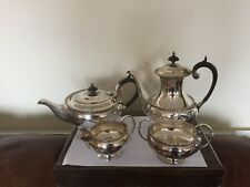 4 PIECE SILVER PLATED TEA/COFFEE SERVICE ALL ON RAISED FEET  (SPTCS 70F ) W & H