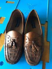 Giorgio Brutini Leather Tassel Loafers Mens Size 8.5 Brown Slip On york