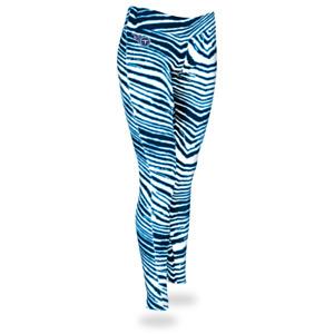 Zubaz NFL Women's Tennessee Titans Zebra Print Legging Bottoms