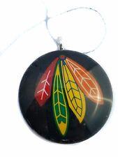 "Chicago Blackhawks 2"" Round Glass Christmas Ornament"