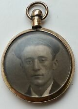 Victorian Rolled Gold Locket Type Pendant With Glass Covering Photo