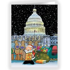 Washington D.c. Politics Christmas Cards - 18 Cards - 90003