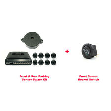 CISBO Front and Rear 8 Parking Sensors Buzzer Kit with Rocker Switch (SB301-8)