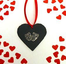 Comedy Tragedy Masks Slate Heart Theatre Actor Drama Valentine Xmas Gift