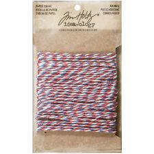 Tim Holtz Idea-Ology 10 Yards Airmail Paper String Twist Twine, Red White & Blue