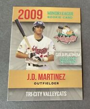 J.D. Martinez 2009 Tri City Valley Cats Minor League 1st Rookie RC Red Sox 🔥