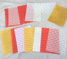 14 A5 Vellum Tracing paper glitter gold white red Happy Birthday Congratulations