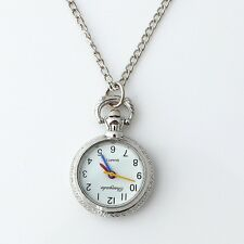 New Mini Quartz Necklace Pendant Metal Watch Chain With Gift Bags Jewelry GL55