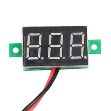 Mini DC 2.5-30V Red LED Panel Voltage Meter 3-Digital Display Voltmeter 2 Wires