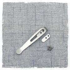 "Custom Made Titanium Deep Carry Clip for Rick Hinderer Knives XM-18 3"""