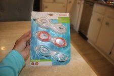 NEW Speedo Kids Splasher 3-pack Goggles Blue / Orange / White age 3-8 Latex Free