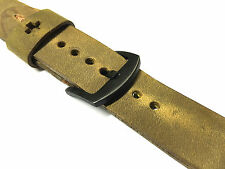 Handmade Vintage Brown Leather Watch Strap Band Fits Apple Watch Series 1 2 42mm