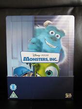 Monsters Inc 3D/2D Blu-Ray Steelbook [UK] Region Free Disney Pixar Classic