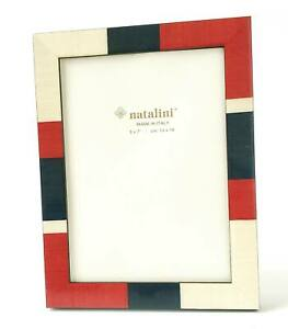 Natalini Photo Frame Red White and Blue Bold Color Block Handmade in Italy 5x7
