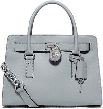 Michael Kors Large EW Hamilton Saffiano Leather Satchel/Shoulder Bag Dusty Blue