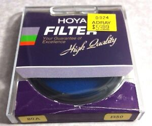 B50 Hoya 80A 80-a 80 a Light Balancing Blue Glass Lens Filter B-50 B 50 Japan