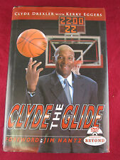 Clyde the Glide Drexler SIGNED 1st Ed. HC + DVD, NBA Trail Blazers Rockets RARE