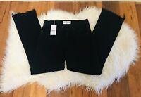 NEW Derek Lam Crosby Womens  Gia Black denim Jeans , size 24, stretch $225
