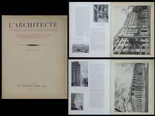 L'ARCHITECTE 1932 CITROEN LYON, PARIS, 3 PLACE FONTENOY, 8 BD VICTOR, PERRET