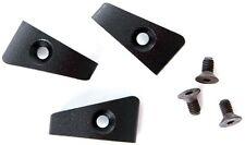3 Supporto-cavo Alluminio per telaio in nero per mountainbike