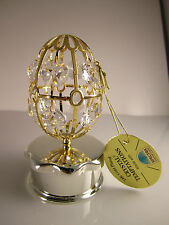 Huevo Con Joyero Caja con Swarowski CRISTALES equipado chapado en oro NUEVO