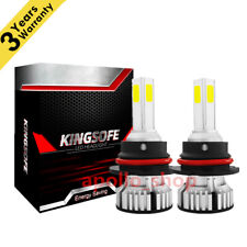4-Sides Mini 9007 LED Headlight Kit 2400W HB5 Hi-Lo Beam Fog Light Bulbs 6000K