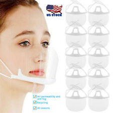 ✅ 10/5Pcs PACK Face Shield Guard Mask Safety Protection With Glasses Reusable US