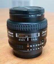 Near Mint Excellent Nikon AF Nikkor 24mm f/2.8 D Wide Angle Prime Lens