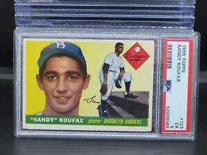 1955 Topps Sandy Koufax Rookie Card RC #123 PSA 5 Dodgers O83