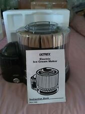 New ListingUltrex Electric Ice Cream Maker � New. Taken out of box for photos.