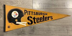 VINTAGE 1970s PITTSBURGH STEELERS NFL PENNANT