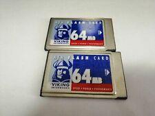 2PCS  VIKING  64MB  PC  CARD