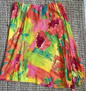 NEW Jams World Skirt Women's Size Large Tropical Made in Hawaii