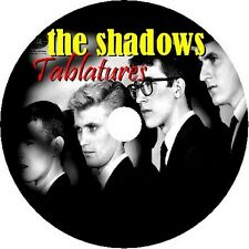 THE SHADOWS HANK MARVIN BASS & GUITAR TAB TABLATURE CD SONG BOOK MUSIC AUDIO POP