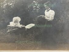ANTIQUE CABINET CARD PORTRAIT CIRCA LATE (19TH OLD PRAM/BABY/WOMAN NOTE VERSO RW
