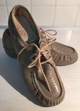 16762fb5c02 SAS Comfort Lace Up Beige leather Moc Shoes Women s 8 N Handsewn Made In USA