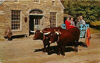 OXEN & BLACKSMITH SHOP FARMERS MUSEUM COOPERSTOWN NY POSTCARD