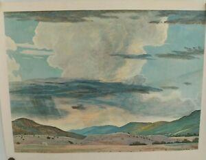 "Larger Size Peter Hurd ""THUNDERHEAD"" Vintage Print Unframed 1966"