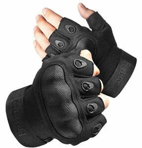 NEW FREETOO Men's Tactical Gloves Reinforced Palm Black Size Large