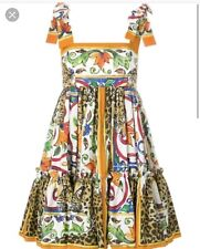 DOLCE GABBANA Majolica Leopard Sundress IT40 - Brand New Never Worn