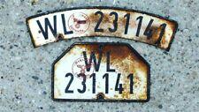 ZUNDAPP KS600 Kennzeichenschild Nummernschild gealtert DKW NSU BMW KETTENKRAD